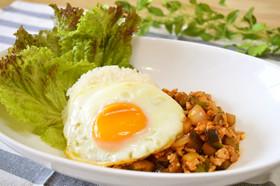 簡単♡茄子と鶏ひき肉のカフェ風ボウル♪