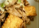 牛肉と厚揚げの炒め物