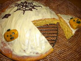ハロウィンのキャロットケーキ