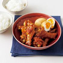 手羽元とゆで卵の韓国風煮