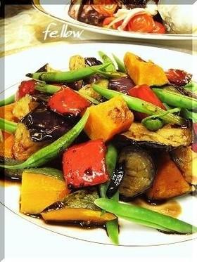 温野菜のバルサミコあんかけ
