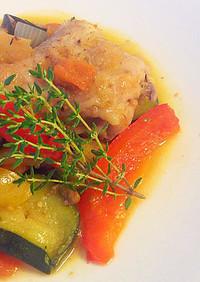 塩レモン入り鶏と野菜のモロッコ風