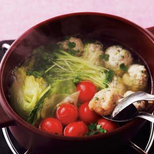 肉だんごサラダ鍋