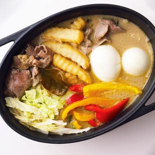 ラム肉のグリーンカレー鍋