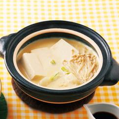 豆乳の親子湯豆腐