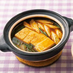 カレー風味湯豆腐