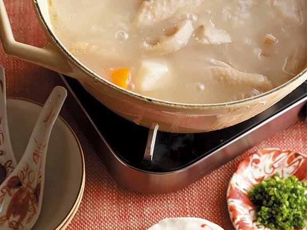 鶏肉と根菜のおかゆなべ