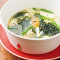 あさりととうふのスープ