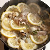 カキと豚肉のレモンなべ
