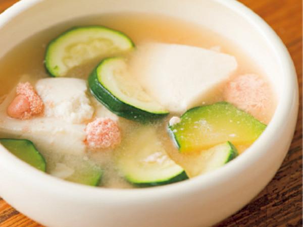 たらことズッキーニのスープ