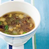 オクラとなすのスープ
