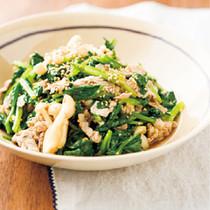 きのことほうれんそうの中華サラダ