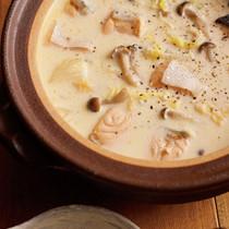 鮭と白菜の豆乳なべ