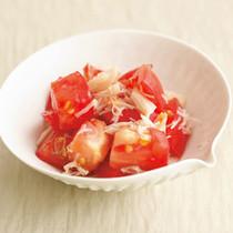 貝柱とトマトの和え物