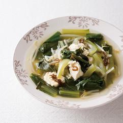 もずくとチンゲンサイの中華スープ