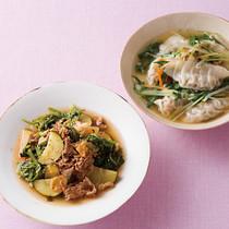 ギョーザ入り中華スープ