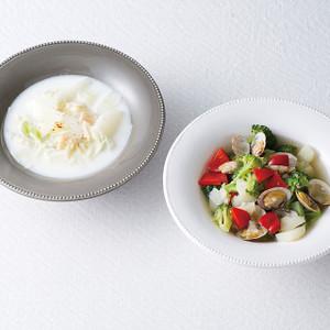 白菜とほたてのミルクスープ