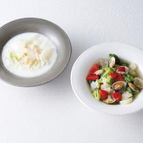 ブロッコリーとあさりのスープ