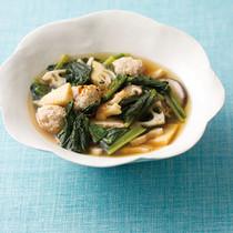 れんこんつくねの和風スープ