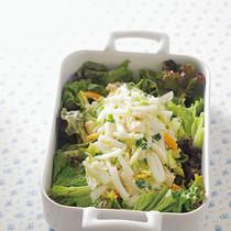 白菜とパプリカのサラダほたてドレッシング