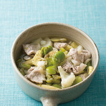 カリフラワーとヤングコーンの中華スープ