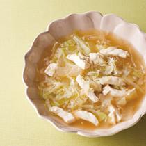 せん切りキャベツととうがんの中華スープ