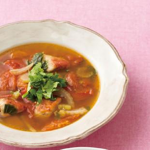 金目だいのブイヤベース風スープ