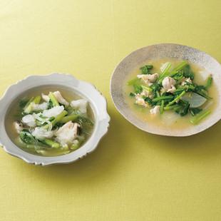 かぶとささ身のコーンスープ
