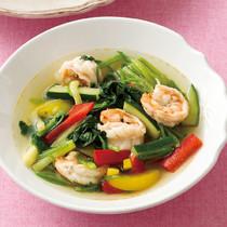 パプリカとえびの洋風スープ
