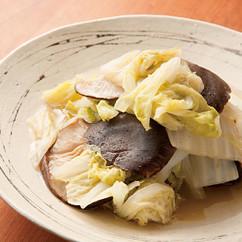 干ししいたけと白菜の煮物