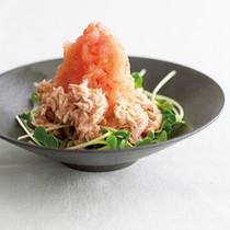 ツナおろしのトマトポン酢