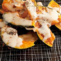 かぼちゃの蒸し焼きとろけるチーズのせ