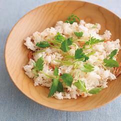 塩鮭と三つ葉のお寿司