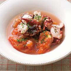 たことトマトのサッと煮
