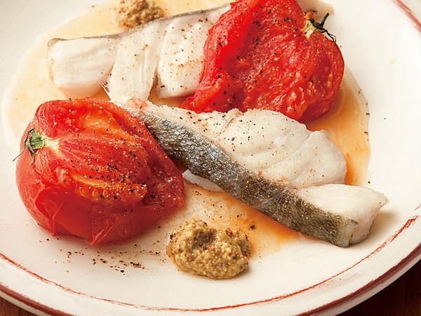 トマトとたらのトースター焼き
