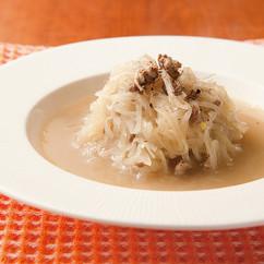 玉ねぎと牛ひき肉のスープ煮