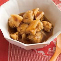 すりおろしれんこんの鶏つくね煮