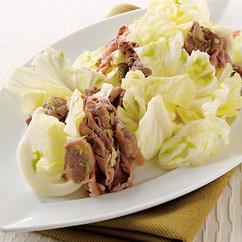 キャベツと牛しゃぶのサラダ