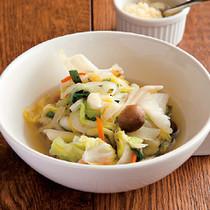 冷凍野菜の蒸し煮