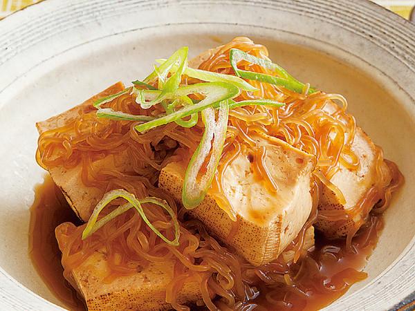 豆腐のすき焼き風煮物
