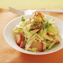 キャベツといちごのサラダ仕立て