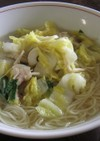 白菜炒め載せラーメン