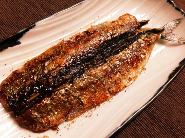 うなぎの蒲焼きたれで秋刀魚の蒲焼き