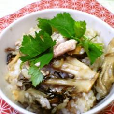 ジューシー☆秋刀魚とキノコの混ぜご飯