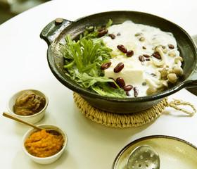 ☆野菜料理家考案☆刻み薬味の豆乳湯豆腐