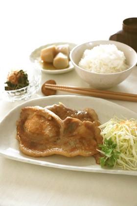 豚肉のめんつゆ生姜焼き…