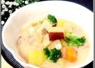 根菜と生姜で温♡和のクリームシチュー