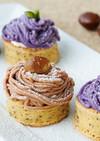 チアシードin大豆粉 栗&紫芋モンブラン