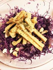 華やか!紫キャベツサラダ ポリフェノールの写真