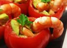 クリスマスに!えびアボカドinトマト